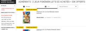 [Bon plan] 30€ en chèque cadeau pour la précommande de Pokémon Let's Go Pikachu & Evoli
