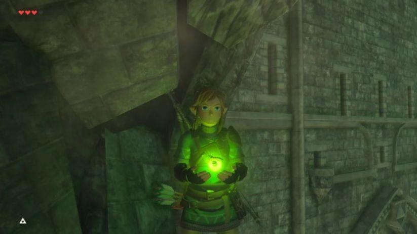 Link et une luciole verte