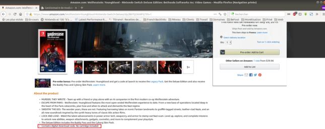 Pas de cartouche confirmée pour Wolfenstein: Youngblood