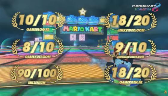 Mario Kart 8 Deluxe : déjà un accolade trailer de Nintendo pour fêter la sortie de son jeu