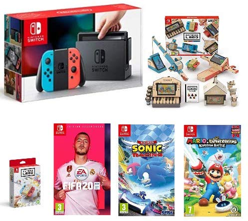Pack Nintendo Switch + 4 jeux chez Amazon à 399€99