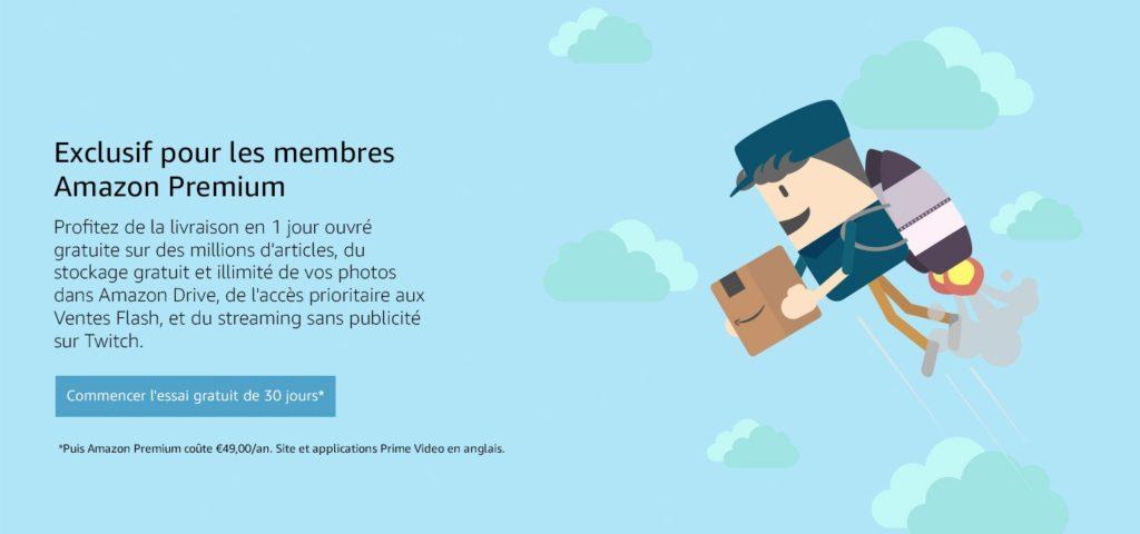 Amazon Premium : livraison gratuite en 1 jour ouvré