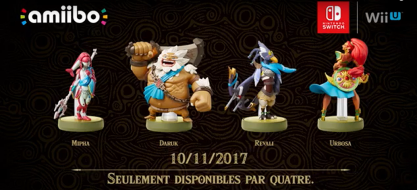 Zelda Breath of the Wild Amiibo des Prodiges