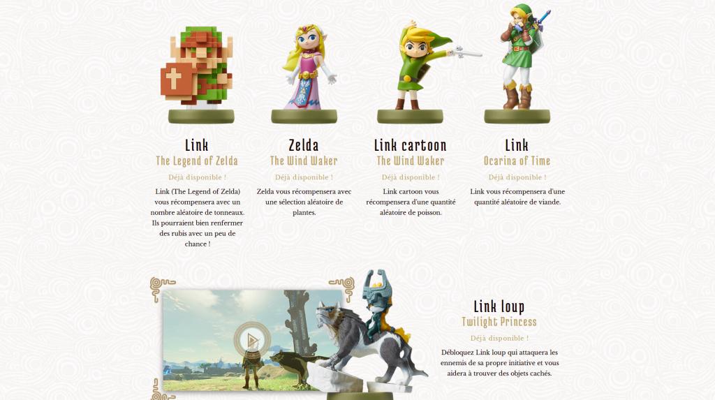 Amiibos The Legend of Zelda classiques