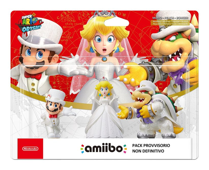 Amiibos du jeu Super Mario Odyssey sur Nintendo Switch