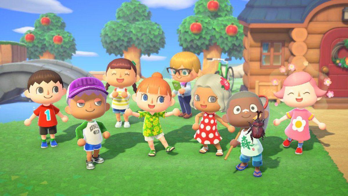 Jeu Animal Crossing : New Horizons sur Nintendo Switch : quelques villageois heureux