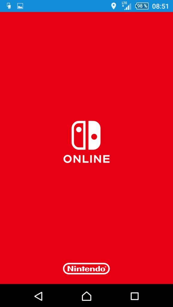 App Nintendo Switch Online : écran d'accueil