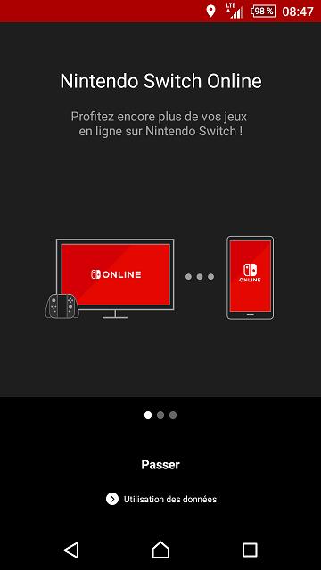 App Nintendo Switch Online : partie sociale des jeux