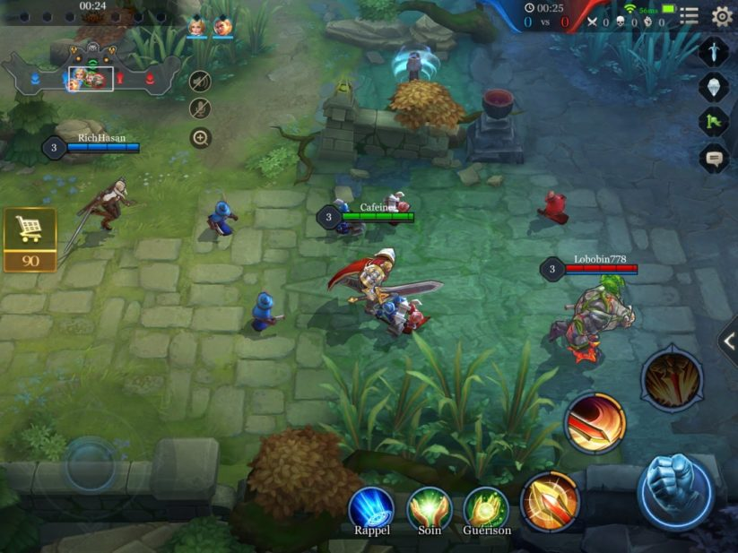 Arena of Valor : image du gameplay sur mobile