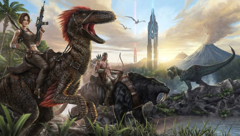 Image du jeu ARK : Survival Evolved sur Nintendo Switch : paysage
