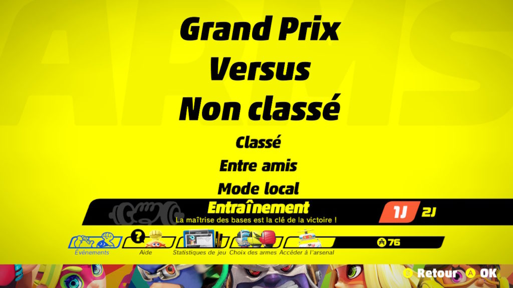 Arms : mode Entrainement