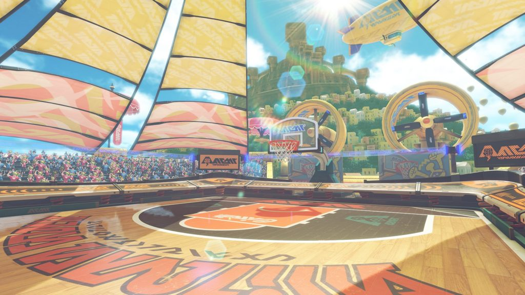 Mise à jour 1.1.0 Arms Global Test Punch : mode Hoops (basket)