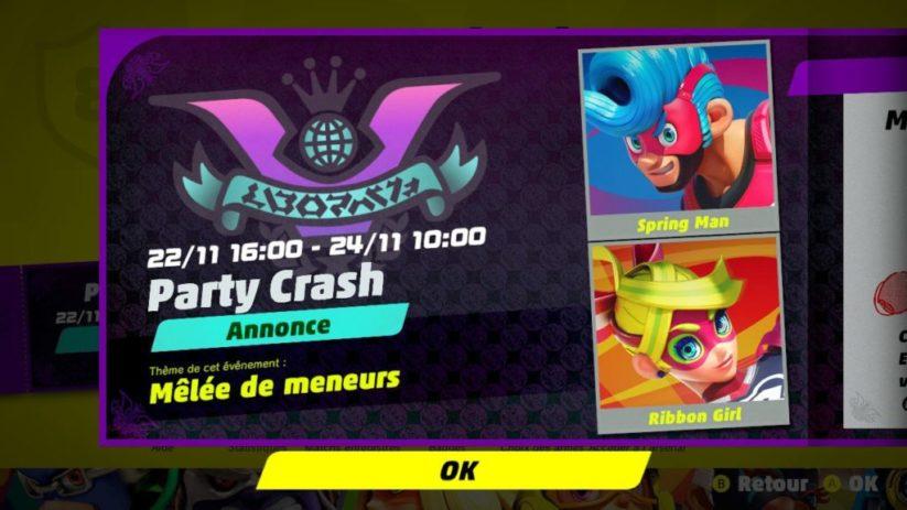Party Crash : événement Mêlée de meneurs du 22/11 16:00 au 24/11 10:00