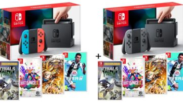 [Bon plan] Nintendo Switch + Fifa 19 + Dragon Ball FighterZ + Trials Fusion Édition Gold + Just Dance 2019 à 359€99