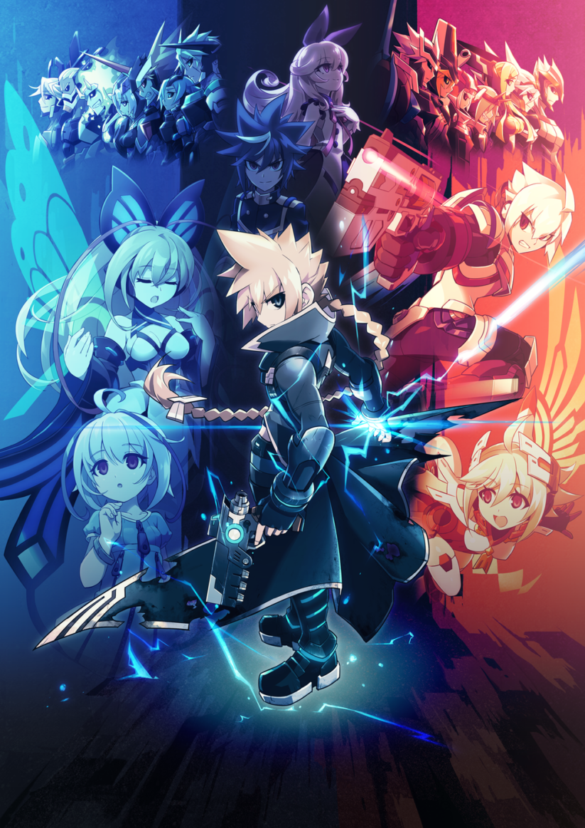 Artwork du jeu Azure Striker Gunvolt sur Nintendo Switch