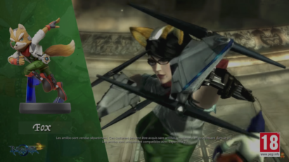 Screenshot de Bayonetta 2 sur Nintendo Switch : Amiibo Fox