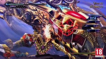 Screenshot de Bayonetta 2 sur Nintendo Switch : attaque Envoûtement après esquive