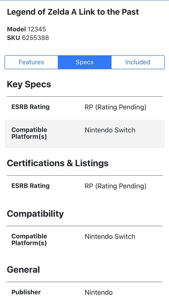 Best Buy dévoile l'arrivée de Zelda: A Link to the Past sur Nintendo Switch