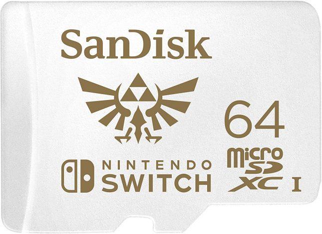 Cartes SanDisk microSDXC UHS-I Nintendo en réduction : Carte 64Go Zelda à 19€86 au lieu de 25€99 (24% de remise)
