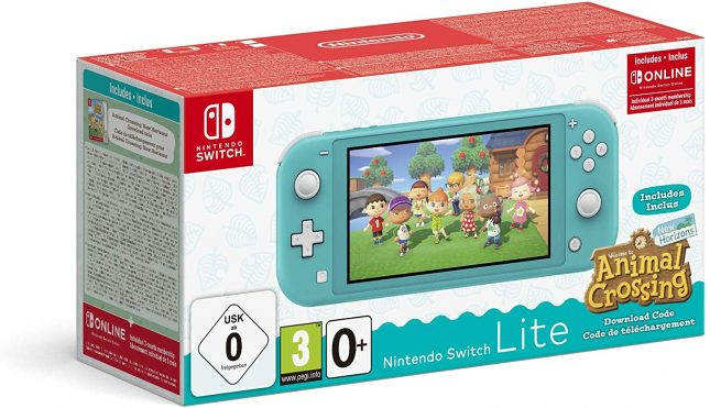 Nintendo Switch Lite Turquoise Animal Crossing New Horizon + 3 mois d'abonnement Nintendo Switch Online