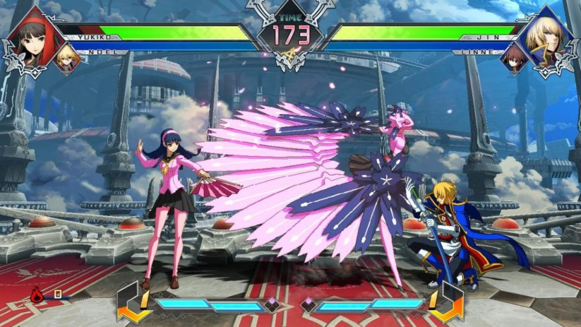 Jeu BlazBlue : Cross Tag Battle : en plein combat