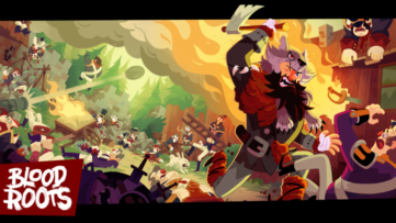 Jeu Bloodroots sur Nintendo Switch : artwork du jeu