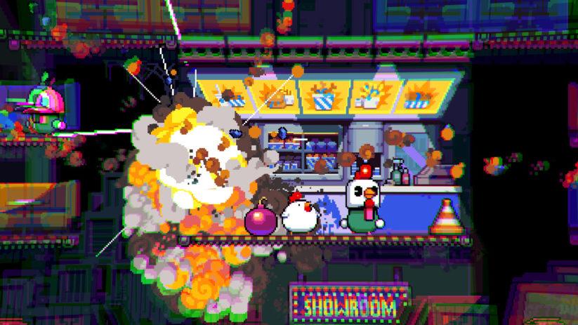 Jeu Bomb Chicken sur Nintendo Switch : cette poule est explosive