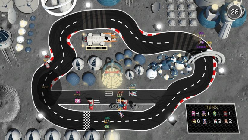 Jeu Brakes Are For Losers sur Nintendo Switch : circuit lunaire