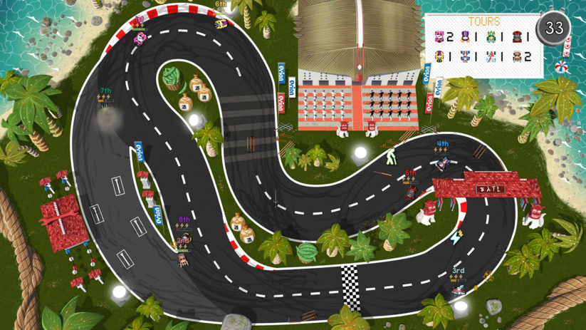 Jeu Brakes Are For Losers sur Nintendo Switch : Circuit classique