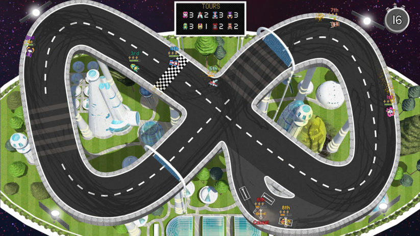 Jeu Brakes Are For Losers sur Nintendo Switch : Circuit en 8