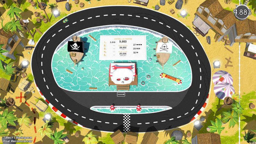 Jeu Brakes Are For Losers sur Nintendo Switch : Circuit pirate