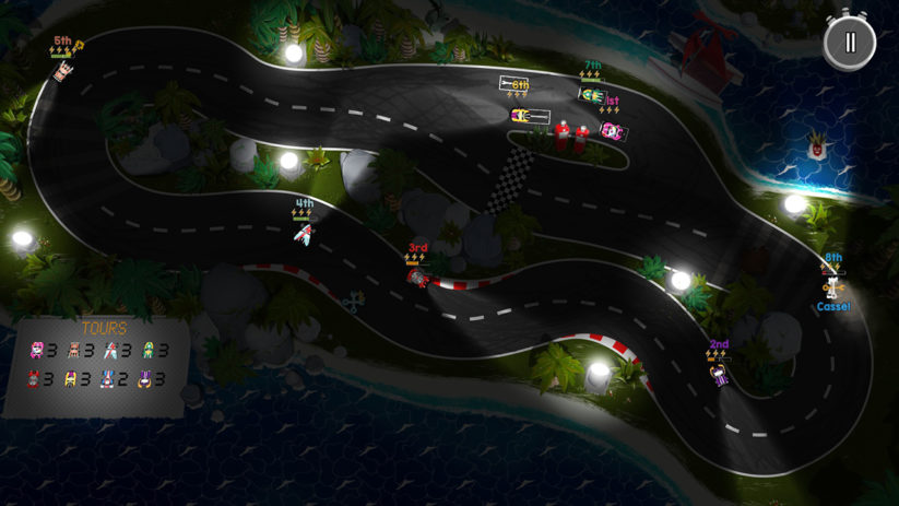Jeu Brakes Are For Losers sur Nintendo Switch : Circuit de nuit