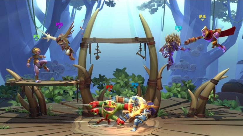 Screenshot de Brawlout sur Nintendo Switch : 6 joueurs
