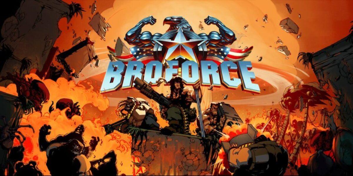 Jeu Broforce sur Nintendo Switch : artwork du jeu