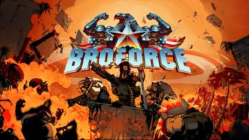 Jeu Broforce sur Nintendo Switch : artwork du jeu