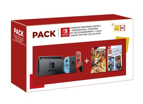 [Précommande] Bundle Nintendo Switch néon + Dragon Ball FighterZ + Lego Harry Potter Collection