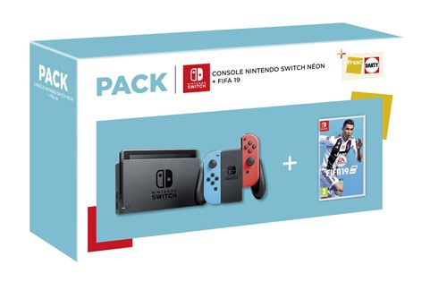 Bundle Nintendo Switch néon avec Fifa 19, guide officiel et DLC inclus