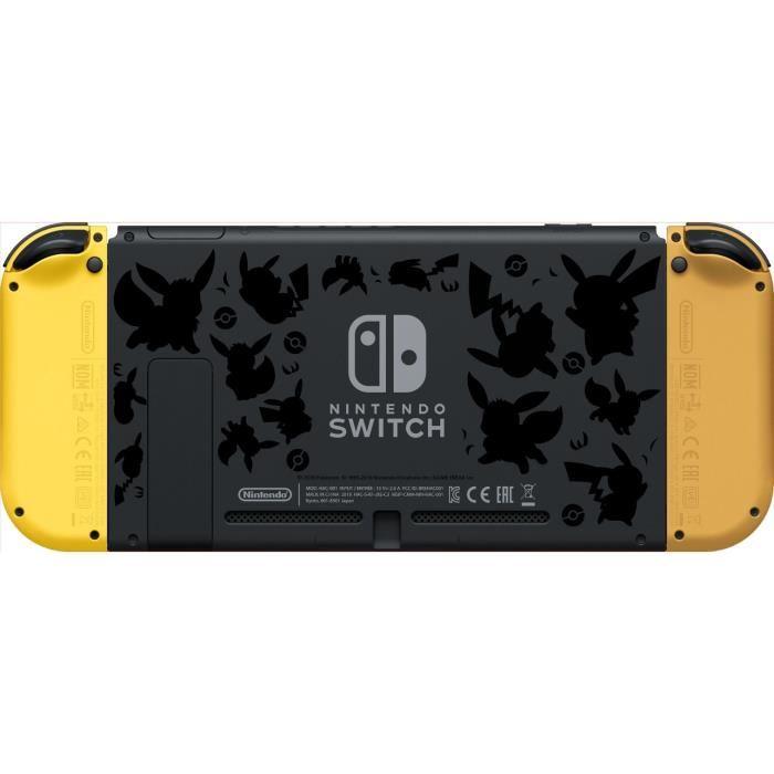 Console Nintendo Switch édition limitée Pokémon Let's Go : dos de la console