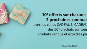 [Bon plan] 10€ de réduction dès 50€ d'achats chez Amazon