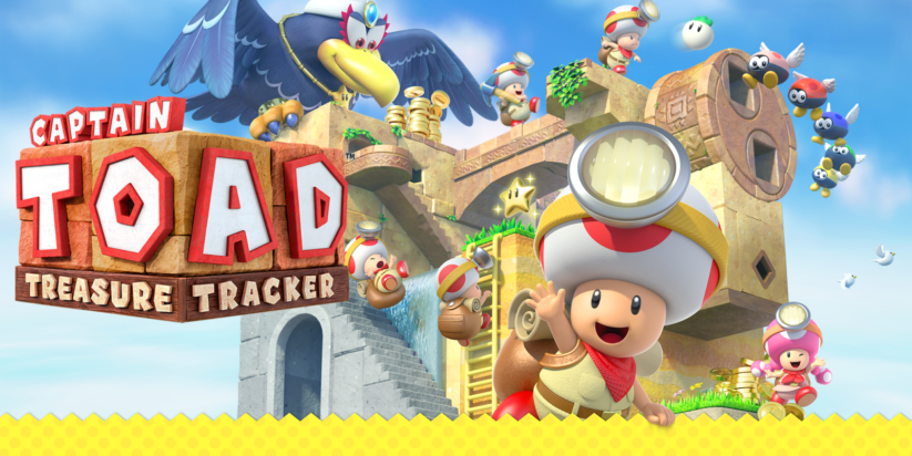 Jeu Captain Toad Treasure Tracker sur Nintendo Switch : artwork du jeu
