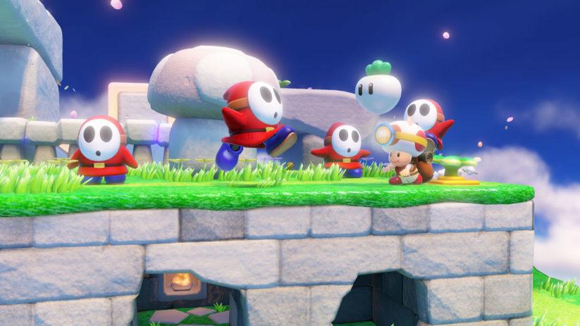 Jeu Captain Toad : Treasure Tracker sur Nintendo Switch : les maskass vous poursuivront
