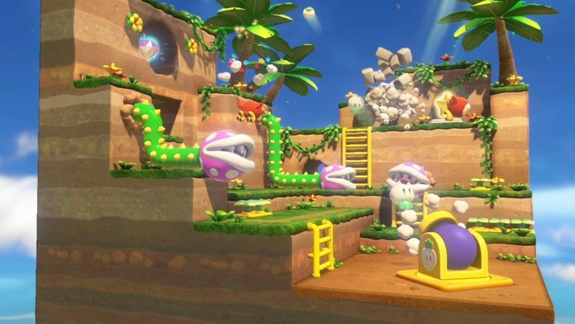 Jeu Captain Toad : Treasure Tracker sur Nintendo Switch : méfiez-vous des plantes piranha