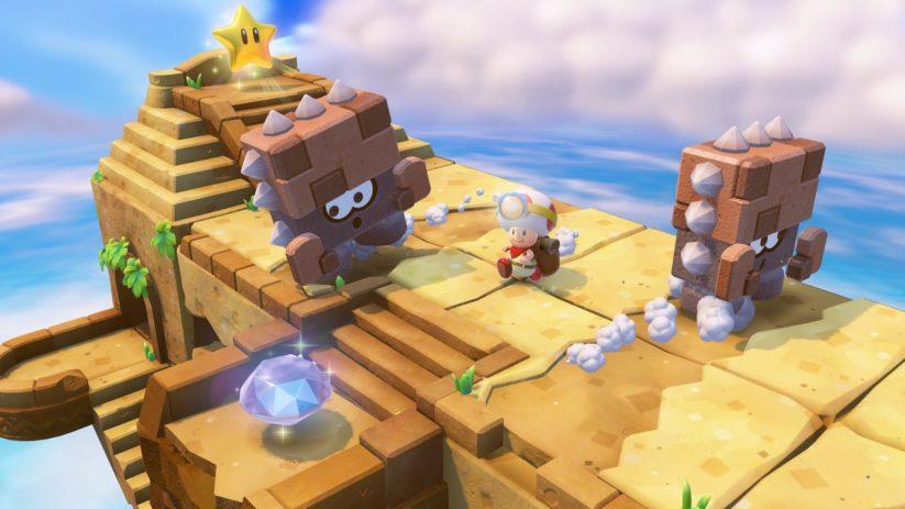 Jeu Captain Toad : Treasure Tracker sur Nintendo Switch : petit champignon peu sportif