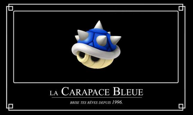 Mario Kart 8 Deluxe : la carapace bleue (carapace à épines)