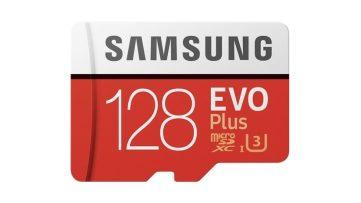 Promotion : carte mémoire microSDXC Samsung Evo Plus 128Go à 35€99 (classe 10 U3)