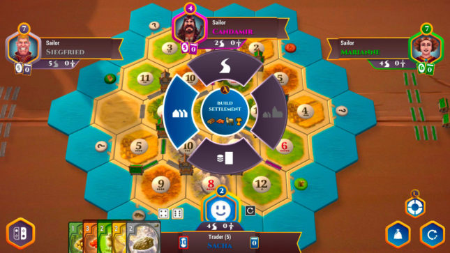 Jeu Catan sur Nintendo Switch : construction