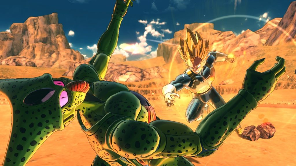 Cell contre vegeta