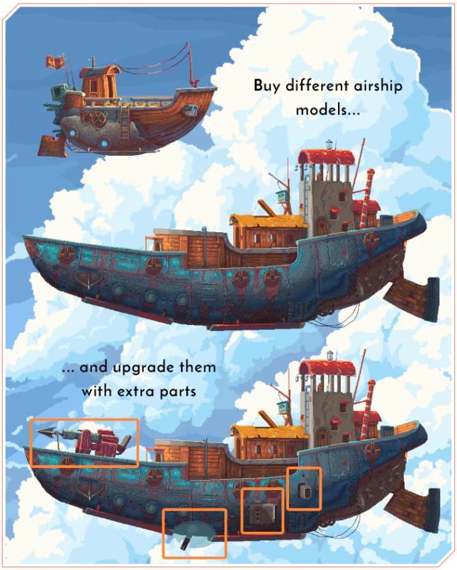 Chained Echoes sur Nintendo Switch : bateau flottant