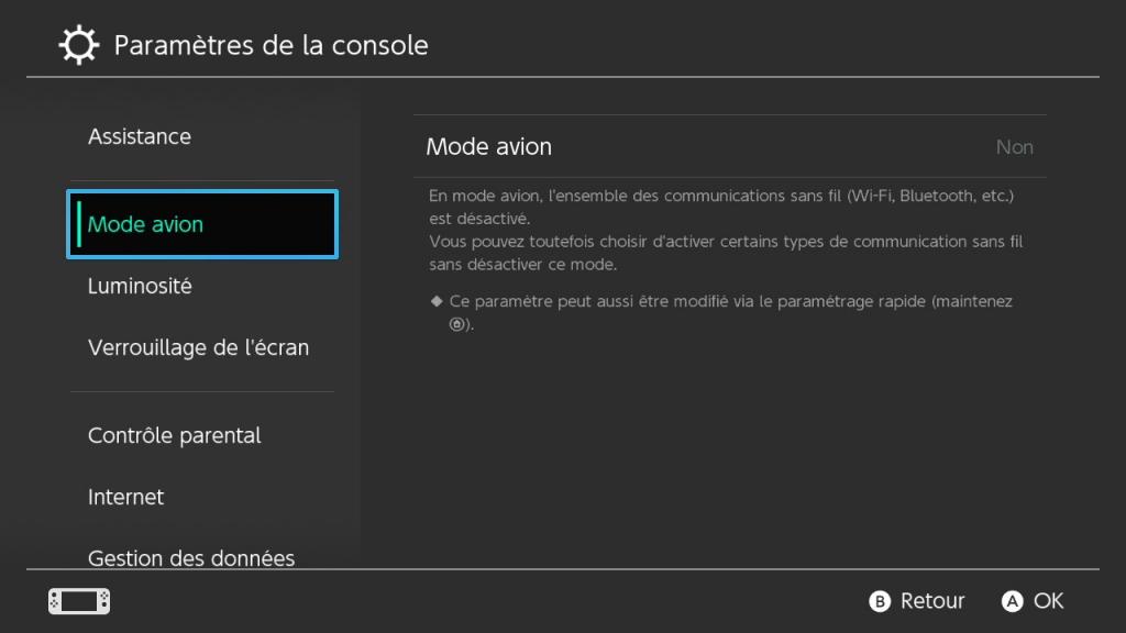 Réduire les chutes de FPS de la Switch : mode avion