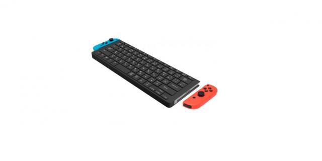 Le clavier peut accueillir les joy-con mais ne les recharge pas